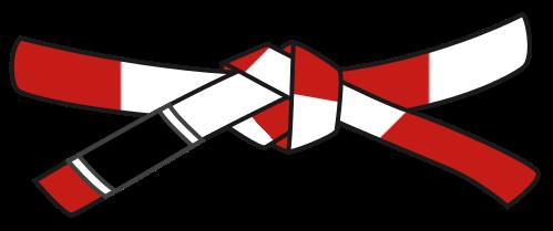 Красно-белый пояс по Джиу-Джитсу