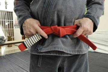 как завязать пояс на кимоно