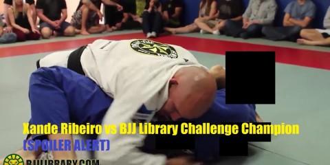 Шанди Рибейро борется с победителем шоу BJJ Library